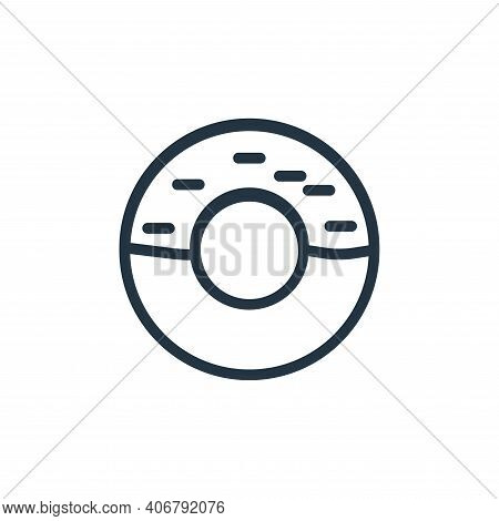 donut icon isolated on white background from food collection. donut icon thin line outline linear do