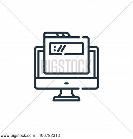 Domain Vector Icon From Web Development Collection Isolated On White Background