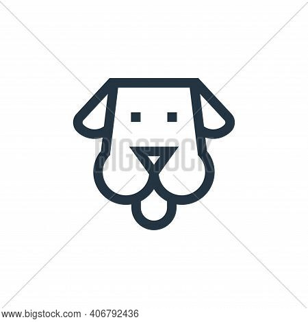 dog icon isolated on white background from pet shop collection. dog icon thin line outline linear do