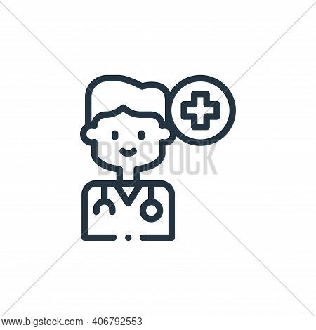 doctor icon isolated on white background from medicine collection. doctor icon thin line outline lin
