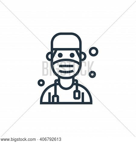 doctor icon isolated on white background from pandemic collection. doctor icon thin line outline lin