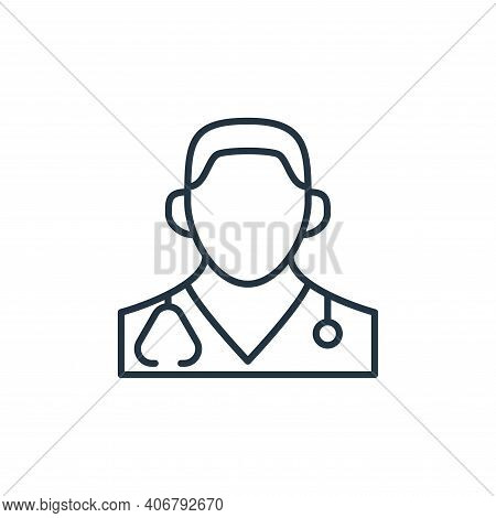 doctor icon isolated on white background from coronavirus disease collection. doctor icon thin line