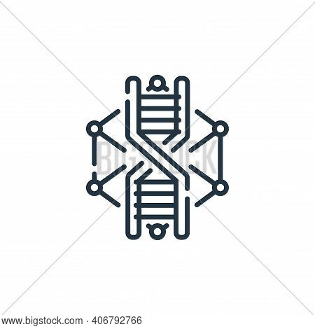 dna icon isolated on white background from robotics collection. dna icon thin line outline linear dn