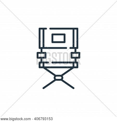 director chair icon isolated on white background from fame collection. director chair icon thin line