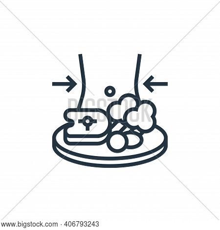 diet food icon isolated on white background from fitness collection. diet food icon thin line outlin