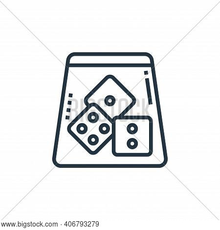 dice icon isolated on white background from casino collection. dice icon thin line outline linear di