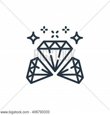 diamonds icon isolated on white background from money and currency collection. diamonds icon thin li
