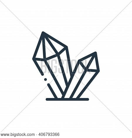 diamond icon isolated on white background from videogame elements collection. diamond icon thin line
