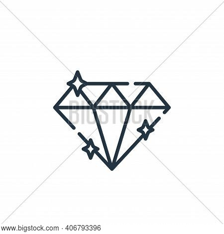 diamond icon isolated on white background from fame collection. diamond icon thin line outline linea
