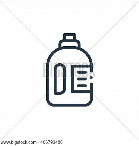 detergent icon isolated on white background from plastic products collection. detergent icon thin li