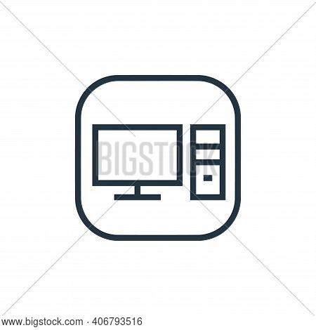 desktop computer icon isolated on white background from hardware and gadgets collection. desktop com