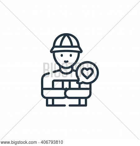 delivery courier icon isolated on white background from kindness collection. delivery courier icon t