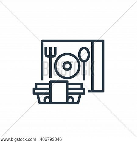 delivery box icon isolated on white background from food delivery collection. delivery box icon thin