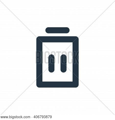 delete icon isolated on white background from user interface collection. delete icon thin line outli