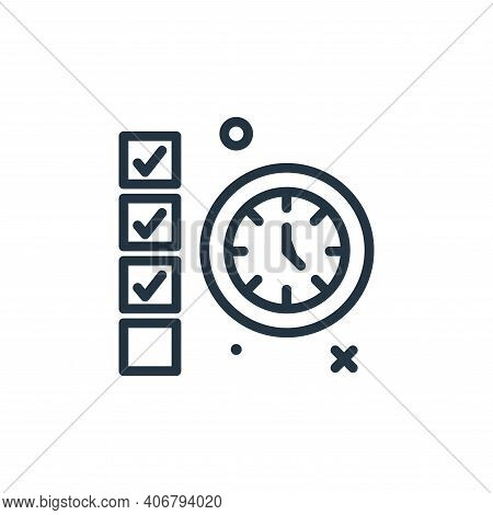 deadline icon isolated on white background from work from home collection. deadline icon thin line o