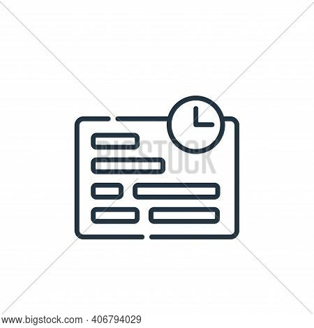 deadline icon isolated on white background from telecommuting collection. deadline icon thin line ou