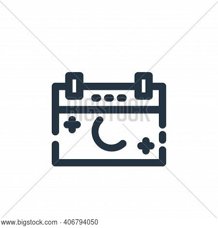 date icon isolated on white background from ramadan kareem collection. date icon thin line outline l