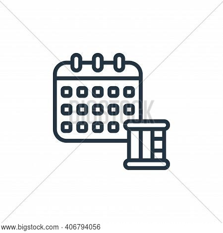 date icon isolated on white background from self isolation collection. date icon thin line outline l