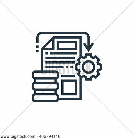 data processing icon isolated on white background from data analytics collection. data processing ic