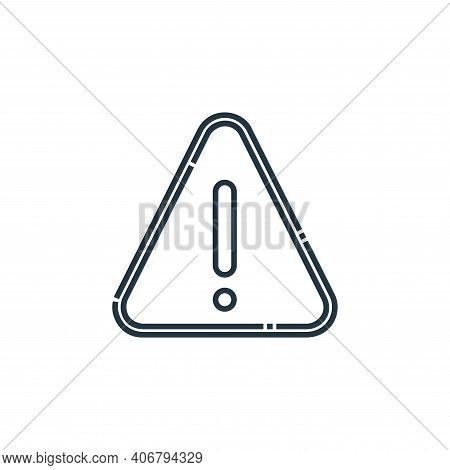 danger icon isolated on white background from signaling collection. danger icon thin line outline li