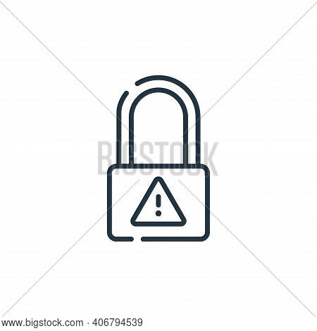 cyber security icon isolated on white background from hacker collection. cyber security icon thin li