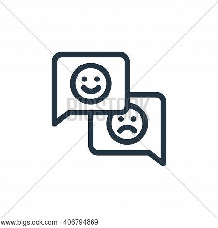 customer feedback icon isolated on white background from ecommerce collection. customer feedback ico