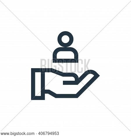 customer icon isolated on white background from marketing and growth collection. customer icon thin