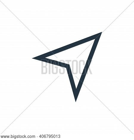 cursor icon isolated on white background from web essentials collection. cursor icon thin line outli