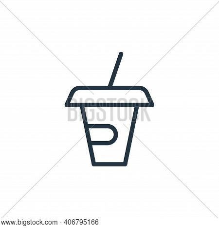 cup icon isolated on white background from food collection. cup icon thin line outline linear cup sy