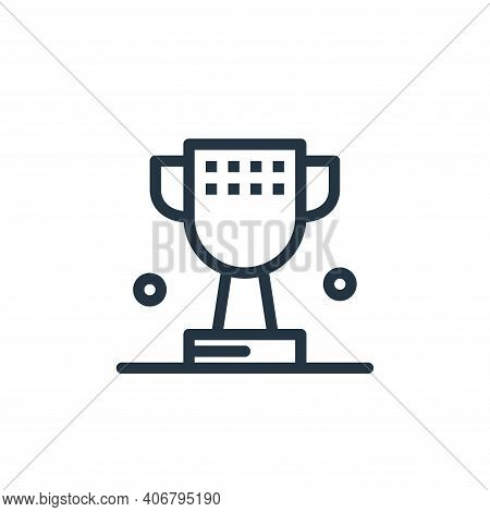 cup icon isolated on white background from business collection. cup icon thin line outline linear cu