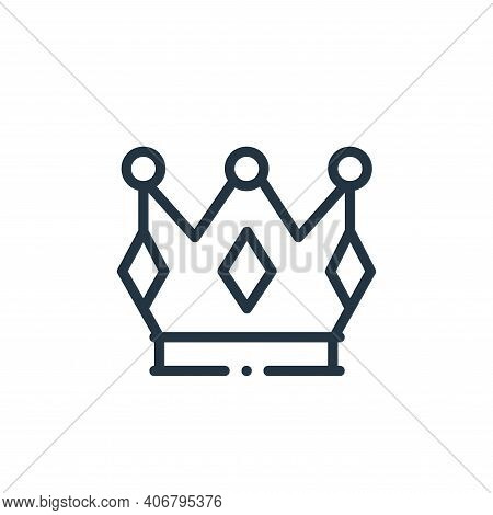 crown icon isolated on white background from videogame elements collection. crown icon thin line out