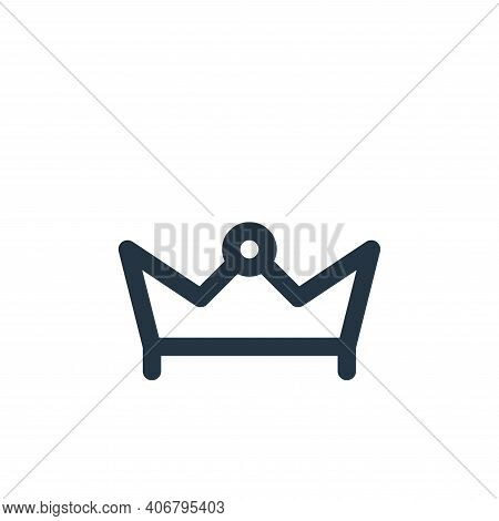 crown icon isolated on white background from holiday collection. crown icon thin line outline linear