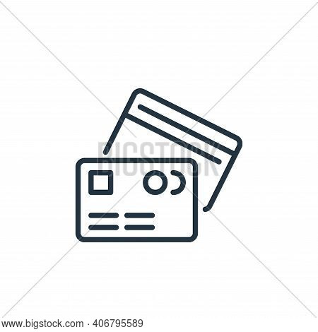 credit cards icon isolated on white background from ecommerce collection. credit cards icon thin lin