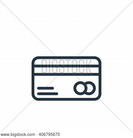 credit card icon isolated on white background from business collection. credit card icon thin line o