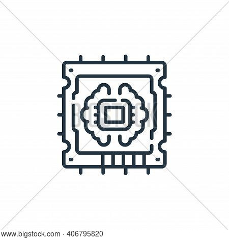 cpu icon isolated on white background from robotics collection. cpu icon thin line outline linear cp