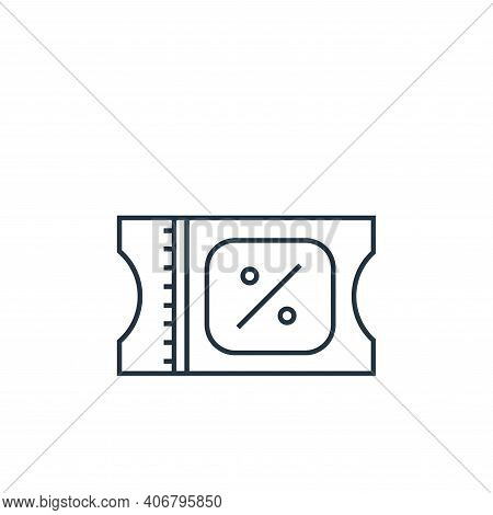 coupon icon isolated on white background from online shopping collection. coupon icon thin line outl