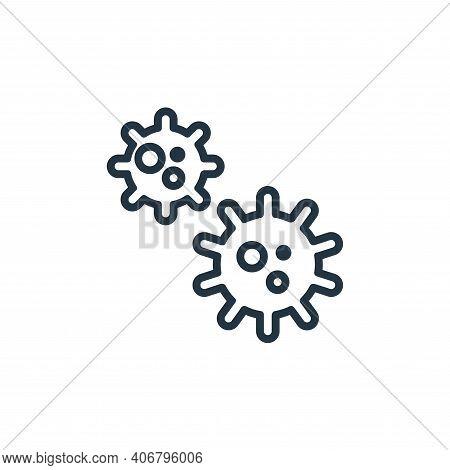 coronavirus icon isolated on white background from pandemic collection. coronavirus icon thin line o