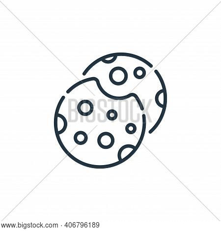 cookies icon isolated on white background from england collection. cookies icon thin line outline li
