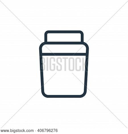 container icon isolated on white background from work office supply collection. container icon thin