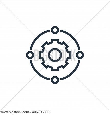 connection icon isolated on white background from engineering collection. connection icon thin line