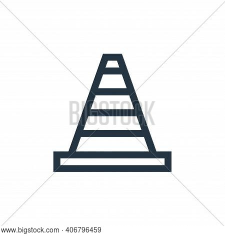 cone icon isolated on white background from web essentials collection. cone icon thin line outline l