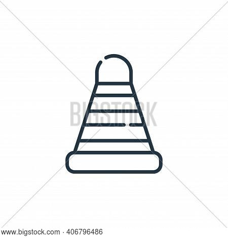 cone icon isolated on white background from labour day collection. cone icon thin line outline linea