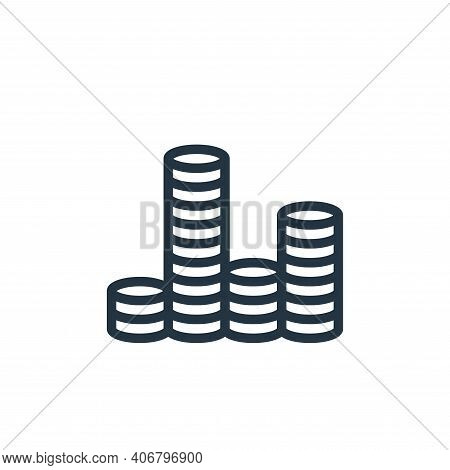 coin icon isolated on white background from finance collection. coin icon thin line outline linear c