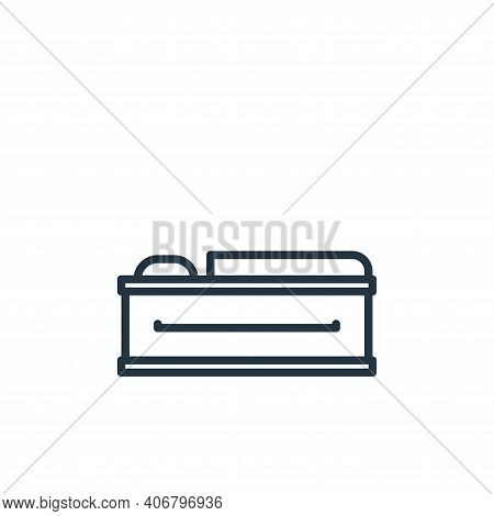 coffin icon isolated on white background from funeral collection. coffin icon thin line outline line