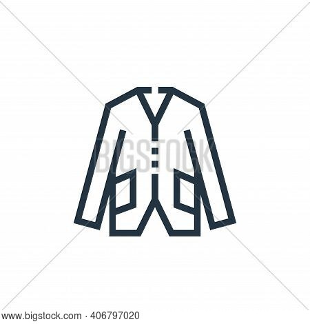coat icon isolated on white background from clothes and apparel collection. coat icon thin line outl