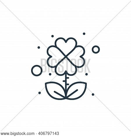 clover leaf icon isolated on white background from saint patrick collection. clover leaf icon thin l