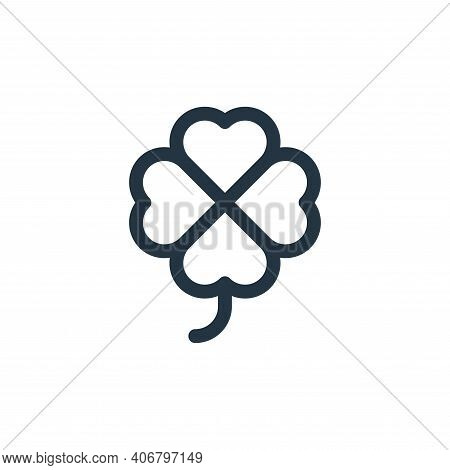 clover icon isolated on white background from europe collection. clover icon thin line outline linea