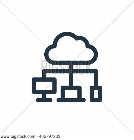 cloud computing icon isolated on white background from communication and media collection. cloud com