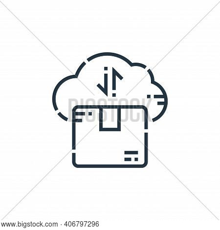 cloud computing icon isolated on white background from delivery collection. cloud computing icon thi