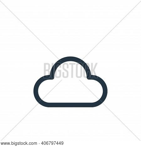 cloud icon isolated on white background from user interface collection. cloud icon thin line outline
